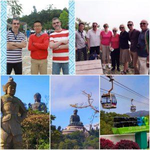 Clients enjoy Lantau Island Big Buddha private car tour of Frank the tour guide