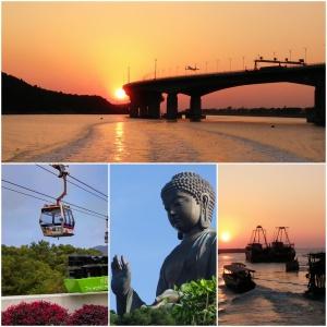 Big Buddha, Hong Kong Macau Zhuhai Bridge, sunset, Tai O Fishing Village, Ngong Ping Cable Car