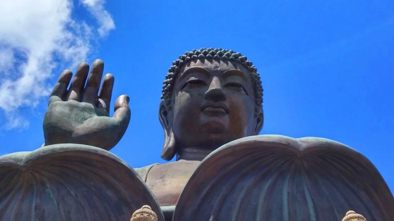 Ngong Ping Big Buddha close up