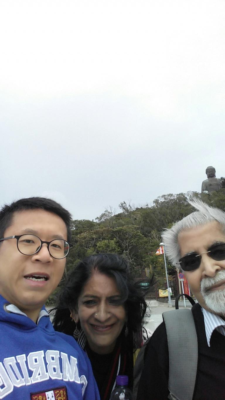 Frank the tour guide, Mrs Rao, Mr Rao, Big Buddha