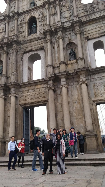 Mr and Mrs Rao at St Paul's Ruins Macau