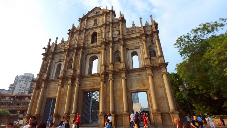 St Paul's Ruins facade Macau