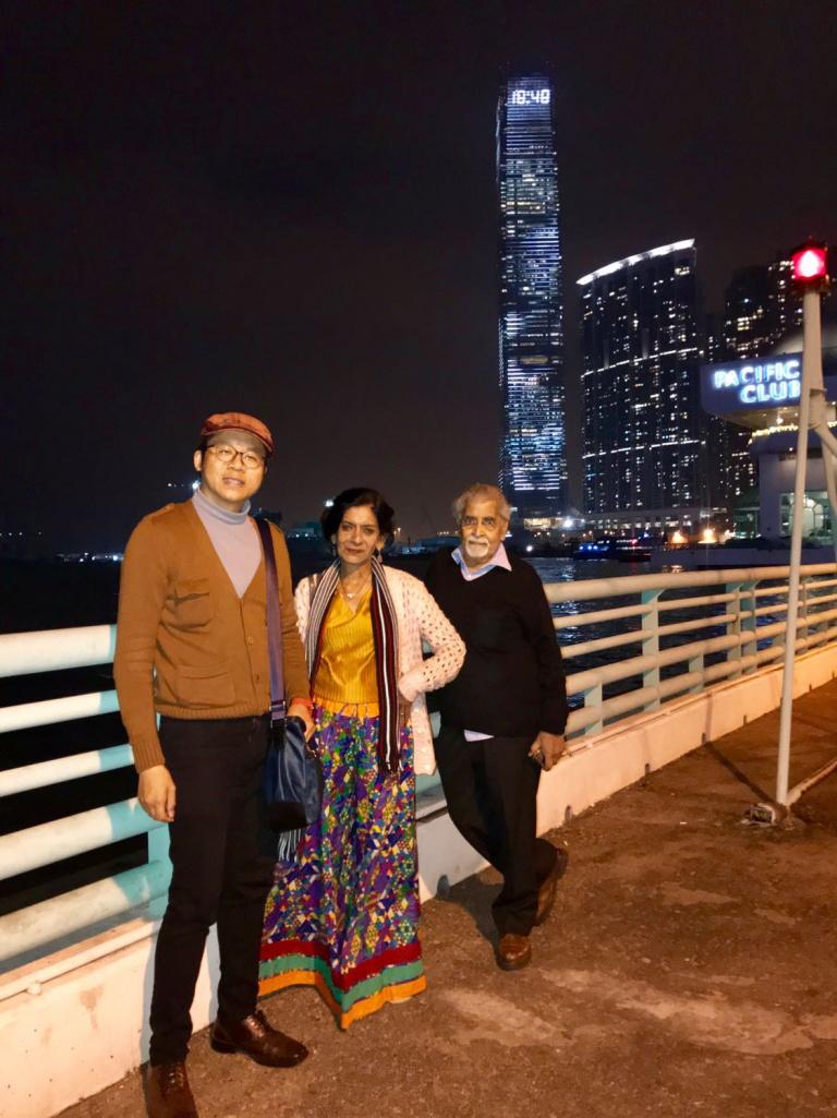 Frank, Mr Rao, Mrs Rao, ICC building