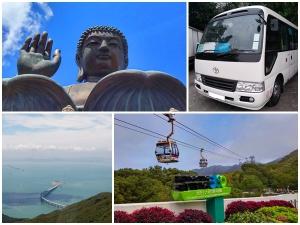Big Budhha, bus, long bridge, Cable car