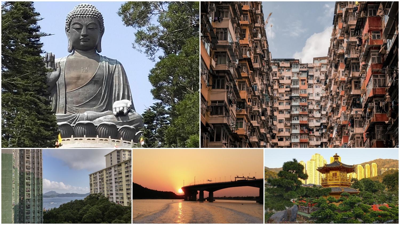 Big Buddha, Monster Mansion, Wah Fu Estate, sunset, Nan Lian Garden