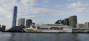 ICC, cruise terminal, cruise ship, blue sky