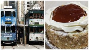 trams, cake