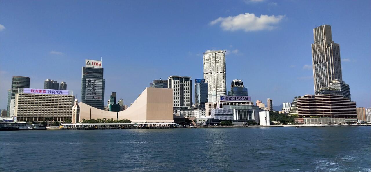 Many travelers stay in hotels at Tsim Sha Tsui.