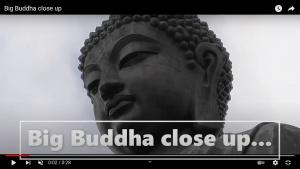 Big Buddha close up video screenshot